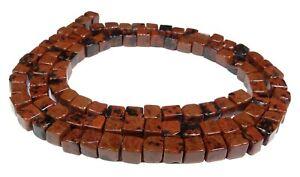 Mahogany Obsidian 0 5/32in Cube Beads Gemstone Beads Strand