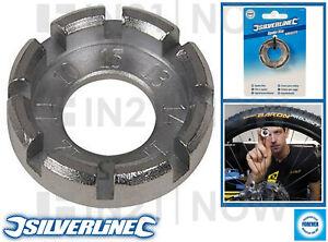 Silverline 8 Way Bicycle Bike Spoke Key Wheel Rim Tightener Spanner 10-15 Gauge