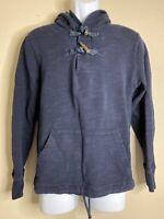 J Crew Men Size L Blue Outerwear Fleece Hoodie Kangaroo Pockets