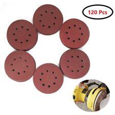 120PCS 5 Inch Red Sanding Discs - 1000 1200 1500 2000 2500 3000 Grit Assort Grit