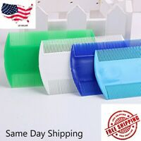 USA Durable Double Sided Nit Combs For Head Lice Detection Comb Pet Dog Flea