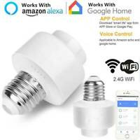 WiFi Smart Light Bulb Socket Adapter E27/26 Works With Alexa Google Home App AU