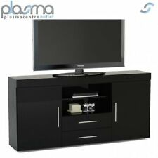 """TNW Carnaby Large High Gloss TV Unit For Up To 65"""" - Black"""