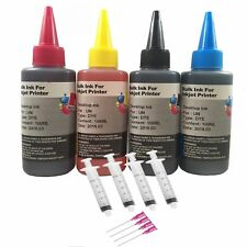 4 Pk 100ML Refill bulk ink kit for HP Canon Lexmark Dell brother inkjet printers