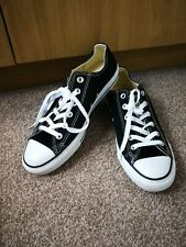 New Converse All Star Mens Womens Sneakers UK 7 Black Sport Shoes Trainers V