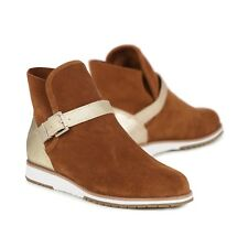 EMU W11175 Women's Cow Suede Chelsea Natural Hazlenut/Sand Boots 6 US 37 EU 4 UK