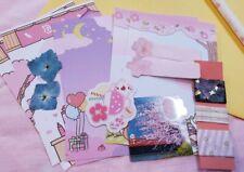 17 pcs Cute Animal Stationary Set for Penpal(Memo Sheets, Sticker Flakes, Etc)