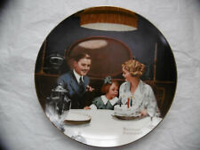 """Norman Rockwell """"The Birthday Wish"""" Edwin Knowles Collectors Plate Vintage"""
