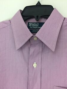 Polo Ralph Lauren Mens Andrew Classic Fit Dress Shirt Stripe 15.5/32 New W/Tags