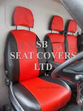 TO FIT A FIAT DUCATO VAN SEAT COVERS - 2008, POPPY RED LEATHERETTE