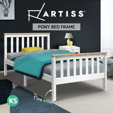 Artiss Bed Frame King Single Wooden PONY Timber Mattress Base Bedroom Kids