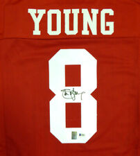 SAN FRANCISCO 49ERS STEVE YOUNG AUTOGRAPHED SIGNED RED JERSEY BECKETT 120025