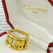 """CARTIER """"Elephant"""" 18ct-Gold Ring mit 5 Elefanten Ringgröße 49  - sehr selten !"""