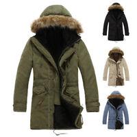 Winter Men's Warm Hooded Down Coat Casual Jacket loose Parka Fur collar Outwear
