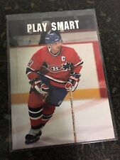 PRO SET HOCKEY 1991 GUY CARBONNEAU PLAY SMART INSERT CARD CANADIENS