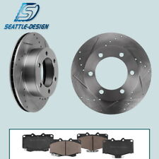 Front Drill & Slot Brake Rotors & Ceramic Pads Fit for Toyota 4Runner Tacoma
