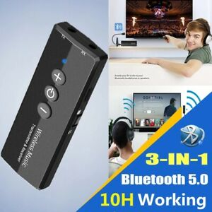 3in1 Bluetooth 5.0 Transmitter Receiver 3.5mm Audio Optical Adapter HD for TV PC