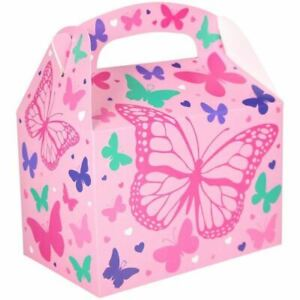 Favours Party Box Butterfly Girls Nature Favour Lunch Loot Box
