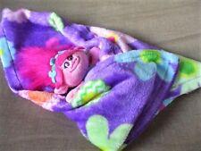 """Build a Bear Poppy Trolls Backpack Clip Holds 8"""" Plush Doll-  Fleece Blanket"""
