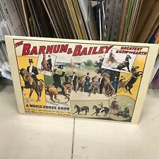 """REPRO BARNUM & BAILEY CIRCUS POSTER 17""""X 24"""" A WHOLE HORSE SHOW MULTIPLE ACTS"""