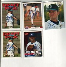 (5) Trey Moore Autographed Baseball Cards 4 DIFFERENT Expos