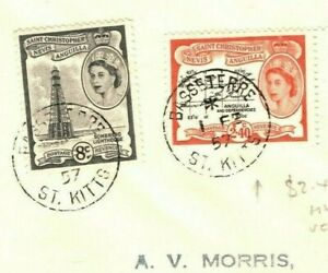 ST KITTS & NEVIS QEII FDC $2.40 Scarce High Value First Day Cover GB 1957 PB254