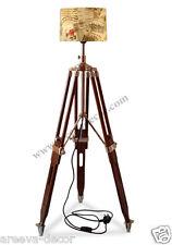 Nautical.Vintage Retro Wooden Tripod Floor Lamp  Lighting Stand Home Decor#