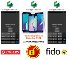 ROGERS / FIDO UNLOCK CODE FOR SONY PHONE ANY CANADIAN MODEL