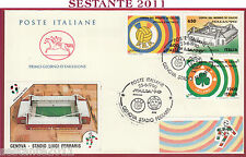 ITALIA FDC CAVALLINO MONDIALI ITALIA '90 GENOVA STADIO FERRARIS 1990 T38