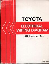TOYOTA ELECTRICAL WIRING DIAGRAM BOOK 1983 PASSENGER CARS