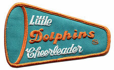 """1980'S LITTLE MIAMI DOLPHINS CHEERLEADER NFL FOOTBALL VINTAGE 4.75"""" PATCH"""