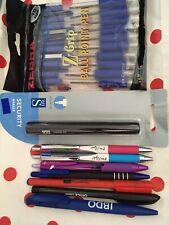 Big Job Lot Bundle Pens stationery Mixed Brands Zebra Uniball Jetstream 18 Piece