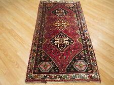 3x5 Circa 1970 Rectangle Persian Shiraz Museum Handmade Knotted Wool Rug 583379