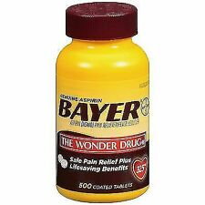 Bayer Genuine Aspirin Pain Reliever 500 Coated Tablets 325mg