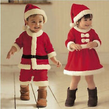 Kids Boy Girls Santa Claus Romper Christmas Cosplay Costume Festival Outfit Sets