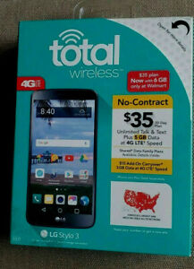 Total Wireles LG Stylo 3 CDMA(Verizon Towers), W/2 bateries, New other: open box