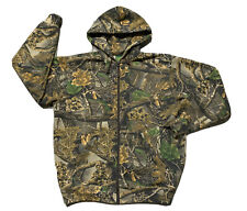 Cabelas Camo SECLUSION 3D Hunting Jacket Sweatshirt Full Zip Camouflage Mens LG