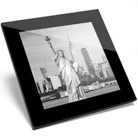 1 x Beautiful Statue of Liberty Art Glass Coaster - Kitchen Student Gift #13259