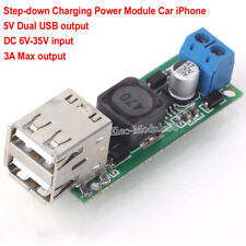 DC 5V 3A Dual USB Output Step down Buck Power Supply Module Mobile Charger Board