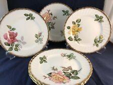 SET OF 6 PRETTY ADDERLEY VINTAGE CHINA TEA PLATES - ROSES