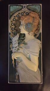 Art Nouveau Alphonse Mucha 3D Wall Plaque The Feather 1899