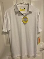 New Men's Nicklaus White & Gray Athletic Polo Golf Shirt Size S