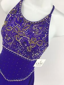 Purple Del Arbour Ladies 4-6 AS Figure Ice Skating Customized Competition Dress