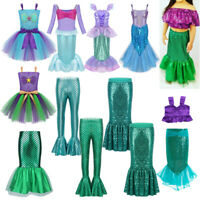 Girl Mermaid Costume Kid Baby Fairytale Princess Halloween Fancy Dress Skirt Set