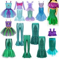 Toddler Girls Mermaid Princess Costume Kid Party Cosplay Fancy Dress Skirt Pants