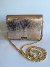 MICHAEL KORS Jade Med Gusset Embossed Leather Soft Pink Clutch Crossbody Bag NWT