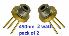 BLUE LASER diode 2w pack of 2   M_TYPE 445nm 450nm M140 m-type blue laser diode