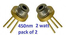 Diodo Laser Blu 2w Confezione da 2 M _ Type 450nm M140 M-tipo Blu LASER a semiconduttore > 445nm