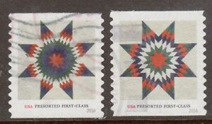 Scott #5098-99 Used Set of 2, Star Quilts