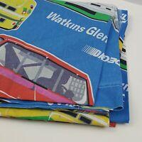 "Nascar Twin Flat Sheet Replacement Vintage Racing Race Tracks 66x94"""